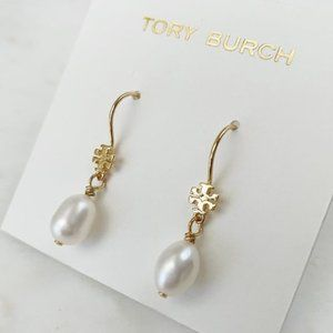 Tory Burch Pearl Pendant Earrings
